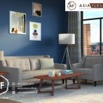 Satu Set Kursi Tamu Sofa Retro