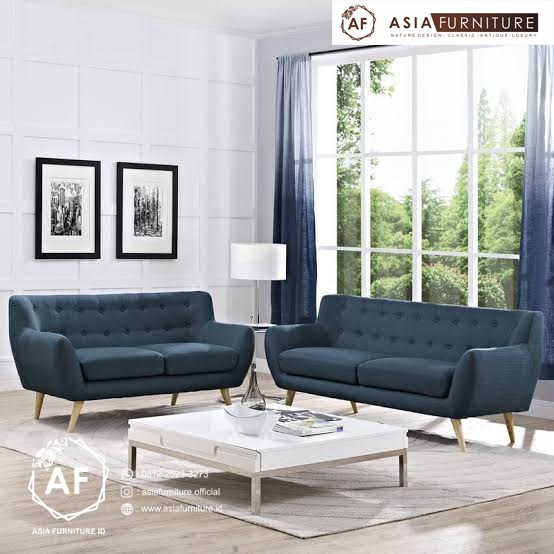 Set Kursi Tamu Sofa Retro Modern