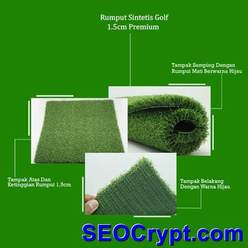 rumput sintetis golf 1.5cm premium